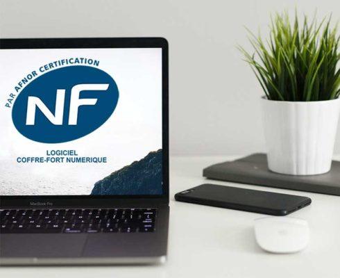 Certification NF du coffre-fort numérique